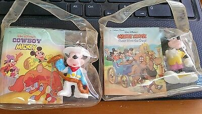 2Applause Brand Mini Golden Book Disney's Cowboy Mickey & PVC Figure New in Bag • $1.99