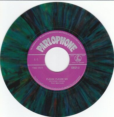 Beatles Please Please Me / From Me To You Original Multicoloured Vinyl 45 Single