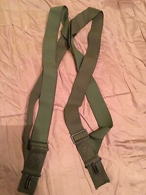 Lot of 2 USGI MILITARY ARMY USMC Trouser Pants SUSPENDERS M1950 BDU ACU DCU