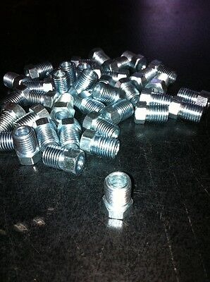 "BRAKE PIPE TUBE NUTS... 3/16"" TUBE  3/8"" x 24 UNF    P5555  X  10"