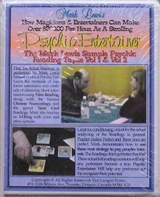 Psychic Entertainer Mark Lewis Sample Psychic Reading Tapes Vol 1 & 2 (Audio)