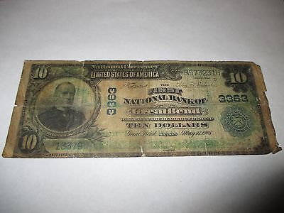 $10 1902 Great Bend Kansas KS National Currency Bank Note Bill! Ch. #3363 RARE