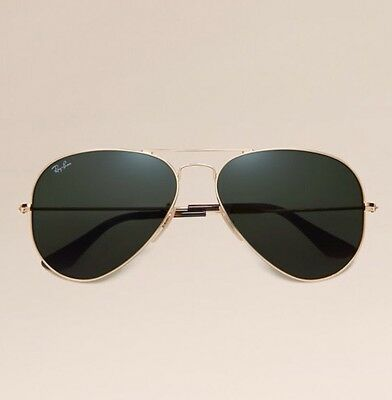 Ray Ban Aviator Classic Sunglasses Gold 58mm For Men Women Retail: $200