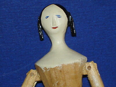 "Artist PK Shillaber House of the Seven Gables 4.5"" Peg Wooden Doll to Dress"