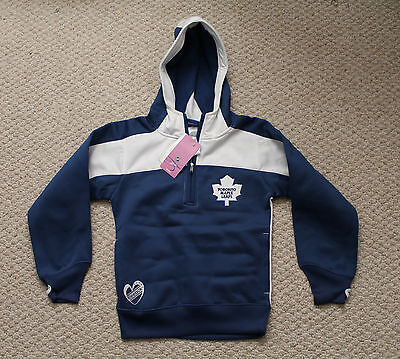 NWT Youth Girls Toronto Maple Leafs Reebok Hoody -  Large Size 14