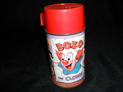 1963 Bozo the Clown Thermos for Lunch Box * Vintage * Rare - Has Rust , Read