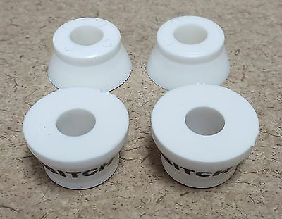 "Khiro ""Bitch"" Bushings White 73A Skateboard Longboard Double Conical Cushions"