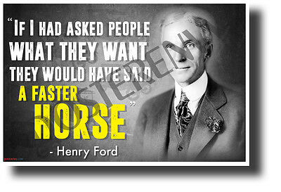 If I Had Asked... - Henry Ford (Portrait) - NEW Famous Person Quote POSTER