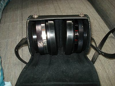 Yashikor Aux. Wide Angle and Telephoto Lenses Y901 (1:4) All Lens Caps & Case