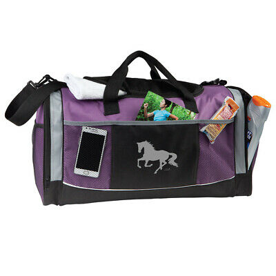 New Purple Overnight Bag - Lila Silver Horse Print - GG790P Overnight BagAWST In