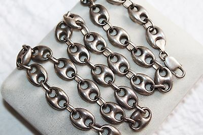 VINTAGE Large Puffy GUCCI LINK ANCHOR Chain NECKLACE 40 g