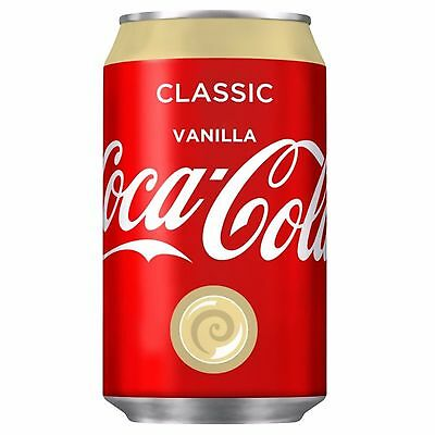 Coca Cola Vanilla (Coke Vanilla) Soft Drinks 1 Full Pack Of 24 Cans (330Ml)