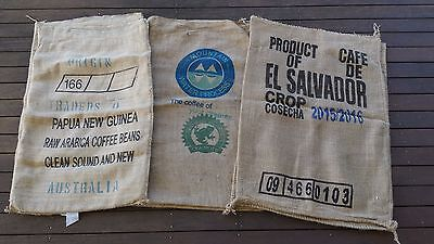 Colourful Coffee Sack Hessian Bag 3 Pack Print Recycle Art work Postage included