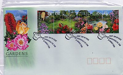 2000 Gardens Of Australia Strip 5 First Day Cover