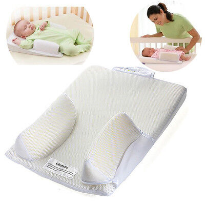 Baby Newborn Infant Sleep Positioner Anti Roll Prevent Flat Head Shape Pillow US