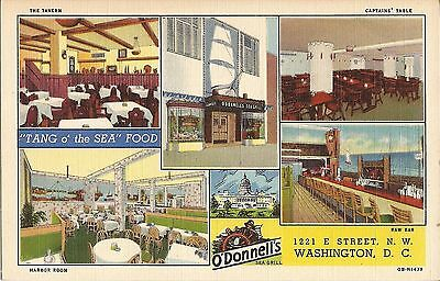 ADVERTISING MULTIVIEW:  O'Donnell's Sea Grill - Washington DC - 1940 - LINEN