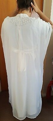 white kaftan maternity beach wedding eastern muslim hijab maxi  pregnancy dress