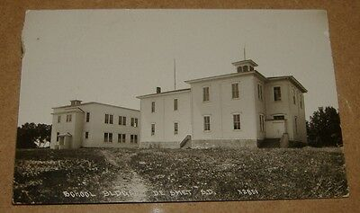 c1910 School Buildings De Smet South Dakota RPPC SD