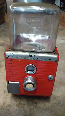 Vintage 1 Cent Northwestern Glass Globe Vending Gumball Peanut Penny Machine