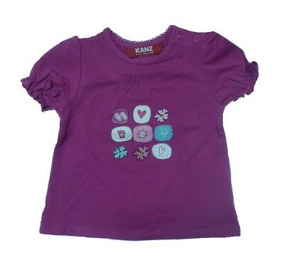 Kanz Girls Short-Sleeved T-Shirt Beach Day (Rose Purple) T-Shirt sz. 56, 80