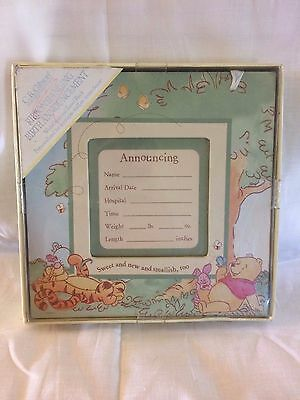 """C.R. Gibson Disney Winnie The Pooh """"Forever Pooh"""" Birth Announcement Sign"""