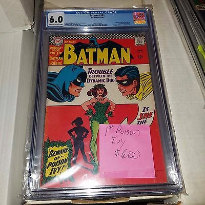 Batman #181, 1st Appearance of Poison Ivy, CGC Graded 6.0
