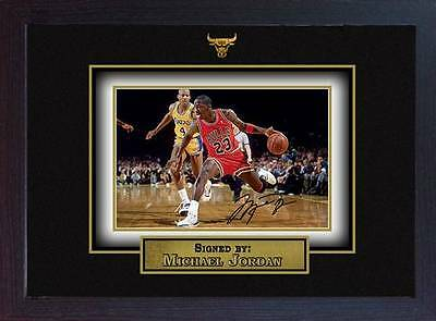Michael Jordan signed autograph Basketball Memorabilia Chicago Bulls NBA Framed