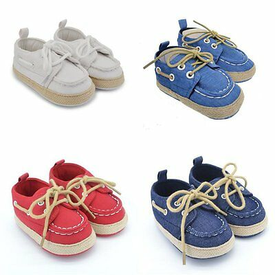 Toddler Baby Boys Girls Soft Sole Crib Shoes Prewalker Cotton Sneakers 0-18M New