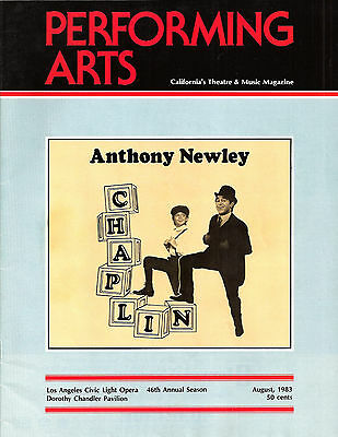 "Anthony Newley ""CHAPLIN"" Andrea Marcovicci / Musical FLOP 1983 Tryout Program"