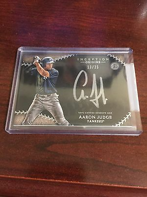 Aaron Judge Bowman 2015 Autographed Inception Trading Card 13/25