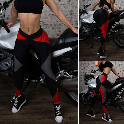 Women's Sports Gym Yoga Running Fitness Leggings Pants Workout Athletic Apparel