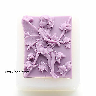maple leaf angel Shaped Handmade Soap Mold Mould Silicone Cake Modeling Tool