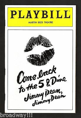 "Cher ""COME BACK TO THE 5 FIVE & DIME JIMMY DEAN"" Sandy Dennis 1982 FLOP Playbill"