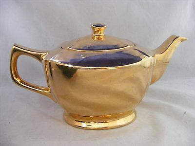 Gold Plated 4.5 Cup Teapot Made in England