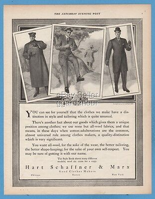 1909 Hart Schaffner & Marx men's clothes Fishing theme 1900's fashion style ad