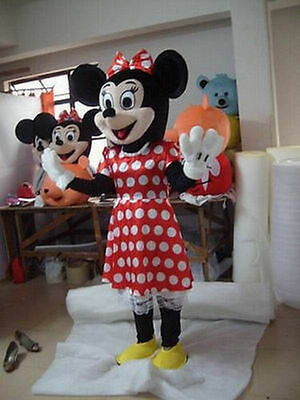 hot sale Crazy Sale Minnie Mouse Mascot Costume Adult Size Fancy Dress Halloween