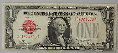 Series 1928 $1 Red Seal Funnyback Legal Tender Note VF some crispness Fr# 1500