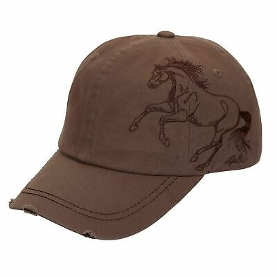 New Expresso Brown Cap - Embroidered Galloping Horse - BC117E Cap AWST Internati