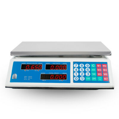 Digital Scale 30KG Food Meat Computing Counting Weight Deli Price Produce Market