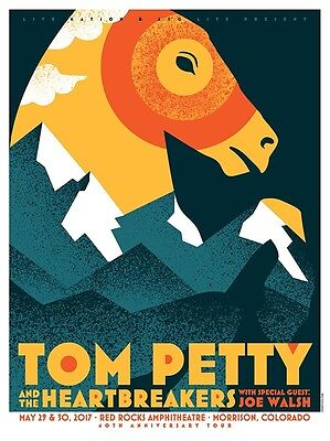 TOM PETTY RED ROCKS VIP CONCERT POSTER A/P X/54 COLORADO May 29th 30th 2017