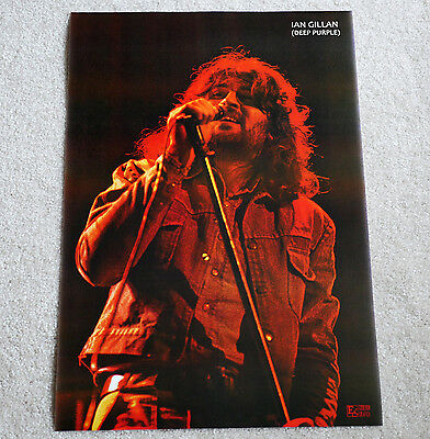 Deep Purple poster Ian Gillan poster Made In Japan '72 period Gillan on stage !!