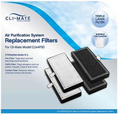 Climate Air Purifier CLI-RF-AP30 Replacement Filters 4 x Filters Set CLI-AP30-RF
