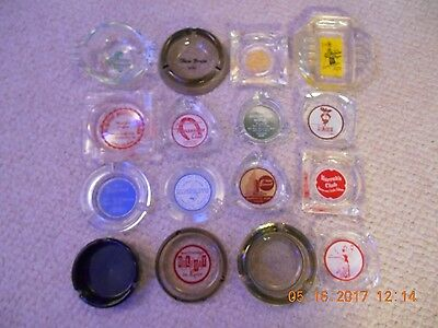 Lot Of 16 Ashtrays From Las Vegas &  Reno Nevada. All Acquired In 1956.
