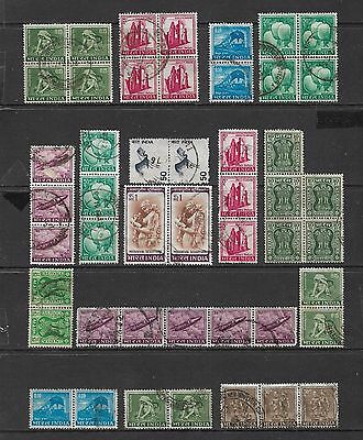 INDIA - mixed collection, joined blocks strips pairs No.5