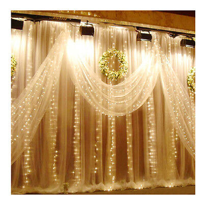 3x3M 300LED Outdoor String Light Curtain Light for Xmas Wedding Party Decoration