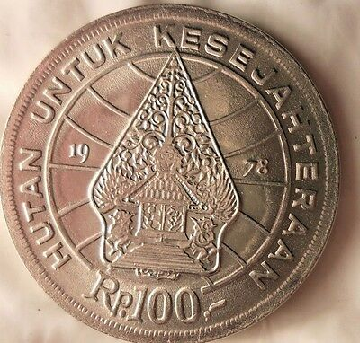 1978 INDONESIA 100 RUPIAH - Great Collectible - FREE SHIPPING - Indonesia Bin A