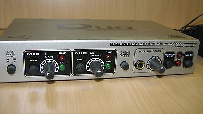 duo professional usb mic preamp