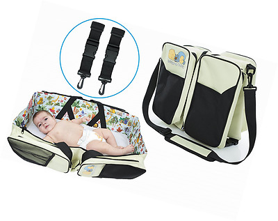 The Original Lullypop Baby 3 in 1 Cream Color Diaper Bag - Travel Bassinet - Cha