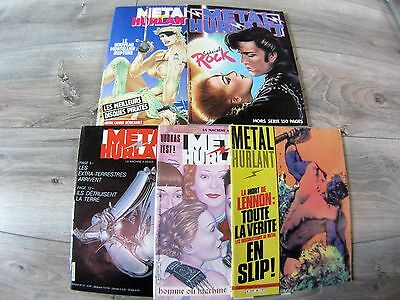 Metal Hurlant /lot N°60 / 71 / 72 / 111  + Special Rock / Be.