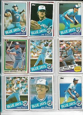 Collection of 18 Topps Toronto Blue Jays Baseball Cards, 1980s